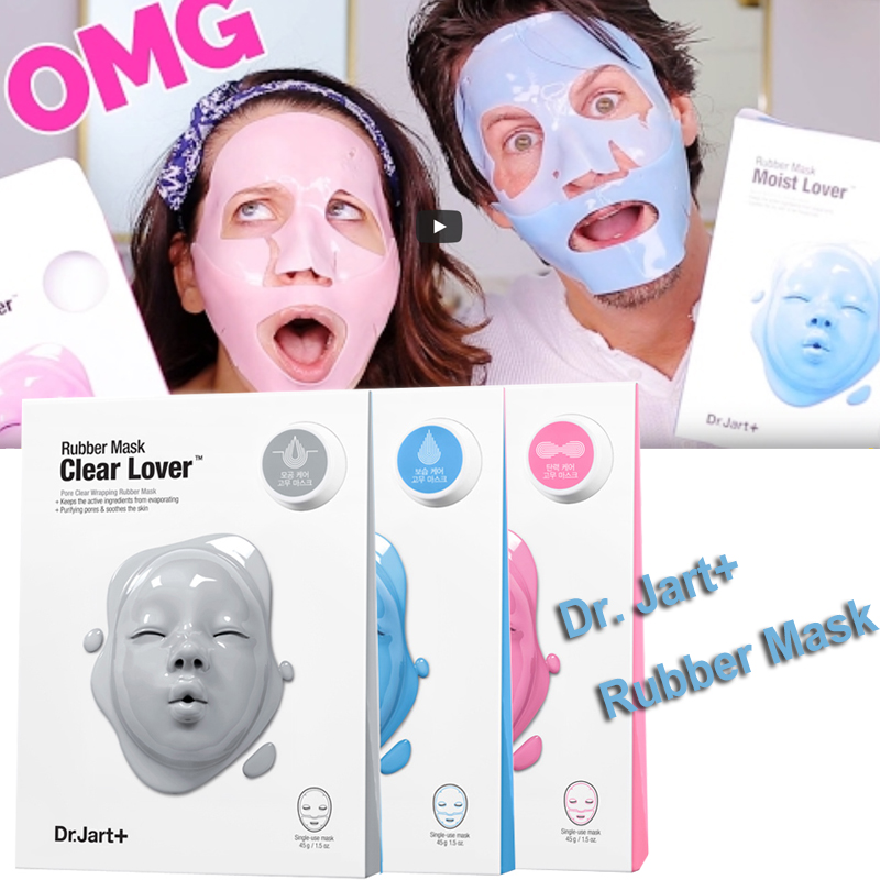 Dr.Jart+ Dermask Rubber Mask Luminous Shot Mask Pack Rubber Face Mask Anti Wrinkle Smooth Skin Korean Facial Bubble Mask