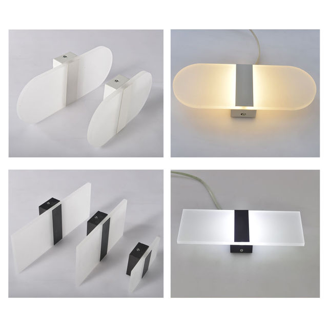 S/M/L Modern LED Round/Square Wall Light Simple  3