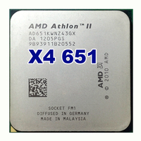 Amd Ii Athlon X4 651 Quad Core Scattered Pieces Cpu Fm1 3 0G 4M Cpu Quad