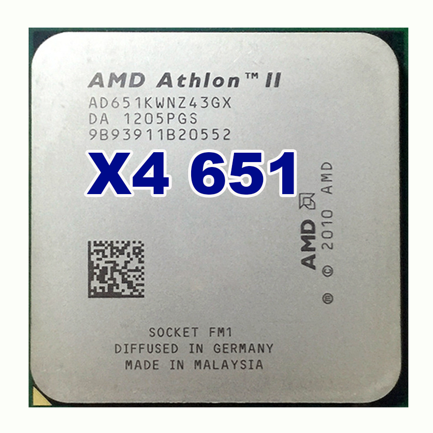 AMD Athlon II X4 651 quad-core fm1 3.0G 4M cpu quad-core processor 100W amd athlon ii x2 340