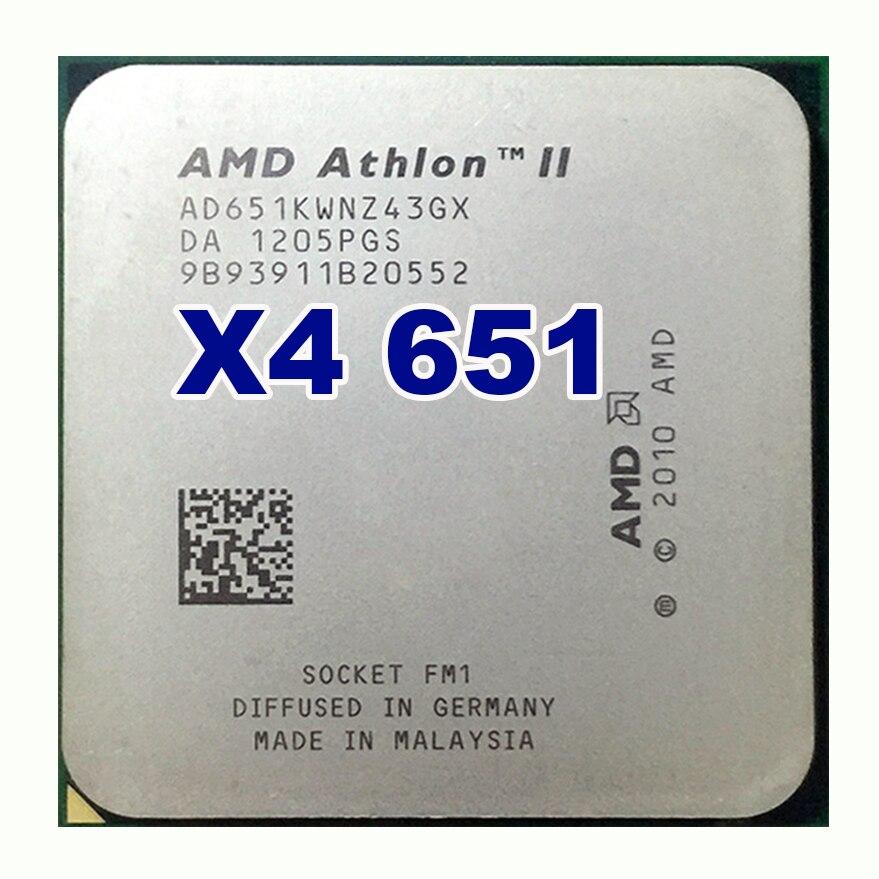 AMD Athlon II X4 651 quad-core fm1 3.0G 4 M cpu quad-core processeur 100 W