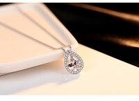 Серебро Капли воды ожерелья корейских ювелирных женский