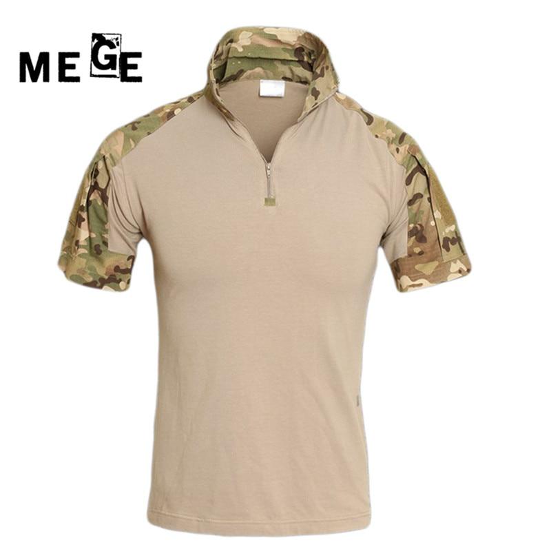 MEGE Summer Tactical Camouflage Lovecké košile Muži Army Multicam - Sportovní oblečení a doplňky