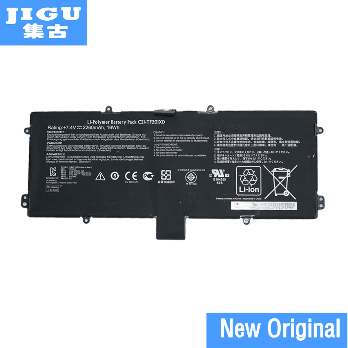 JIGU Original Laptop Battery C21-TF201XD C21-TF20IXD For ASUS For Eee Pad TF201 TF201XD