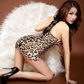 Ladies Nighties Sexy Leopard Print Womens Nightdress Bodycon Mini Short Sleepshirt Skinny Nightgown Sleepwear V-Neck Nightgowns