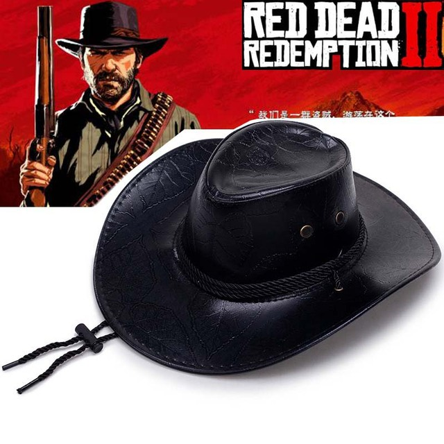 aca5f1ef993 Game Red Dead Redemption 2 Cowboy Hat Cosplay Props West Cowboy Hats Punk  Cap Women Man