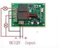 века аоке 12В 2-канальный РФ беспроводной переключатель системы удаленного управление с двумя кнопками приемник для приспособления ворота гаража
