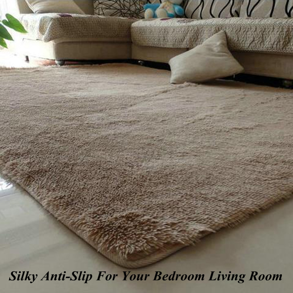 1pcs 80x120cm silky carpet mats sofa bedroom living room for Living room mats