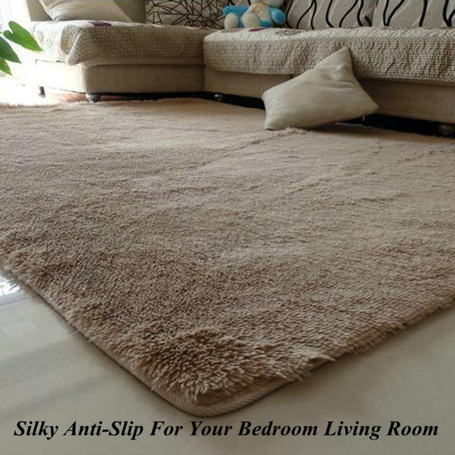 1PCS 80x120cm Silky Carpet Mats Sofa Bedroom Living Room Anti Slip