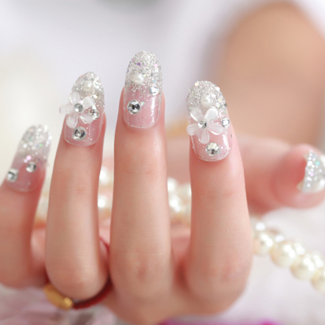 The bride nail art stickers summer style nail art Party using the ...