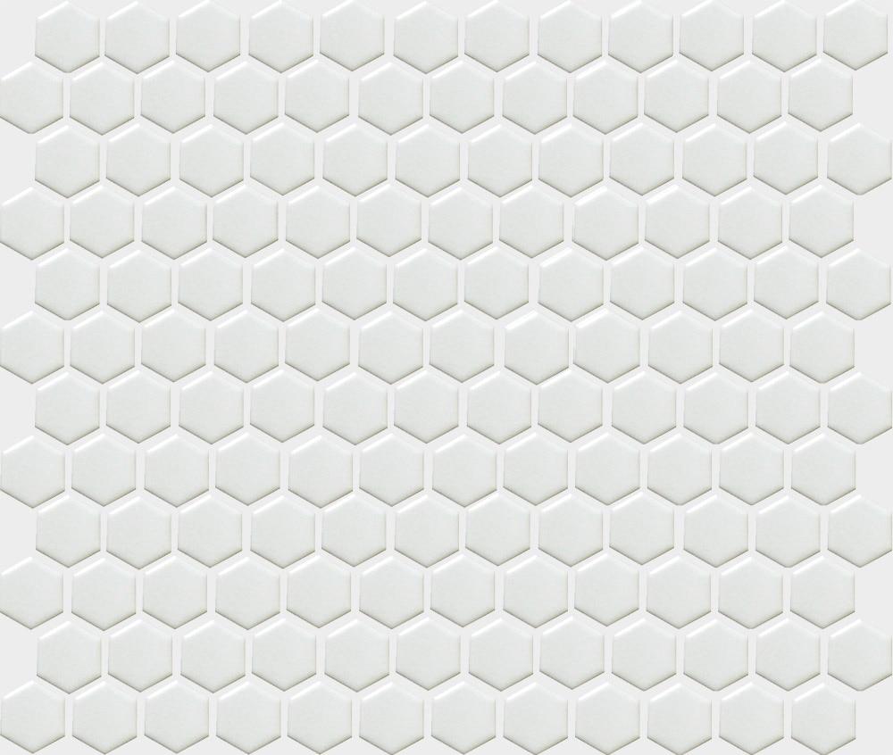 11PCS fashion white hexagon ceramic mosaic kitchen backsplash ...