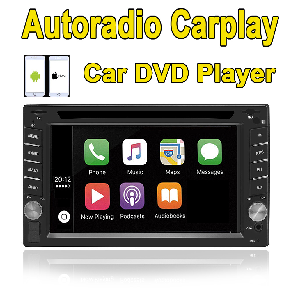 2din auto Car DVD player autoradio carplay for nissan 2din Stereo Radio Bluetooth USB/SD/AV-IN Steering Wheel Control universal 2din car pc dvd gps navigation for 2din car map dvd player car autoradio multimedia stereo audio sd usb bluetooth steering wheel