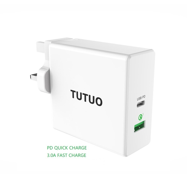Type C PD Adapter 60W Fast USB Charger EU US UK Mobile Phone Fast Charging USB for MacBook iPhone XS Max Samsung Xiaomi Huawei