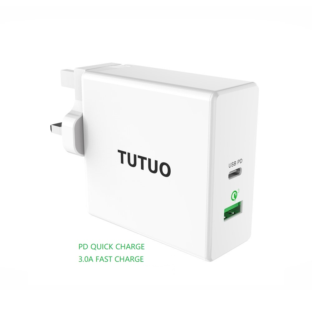 Type C PD adaptateur 60 W chargeur USB rapide EU US UK téléphone portable chargement rapide USB pour MacBook iPhone XS Max Samsung Xiaomi Huawei