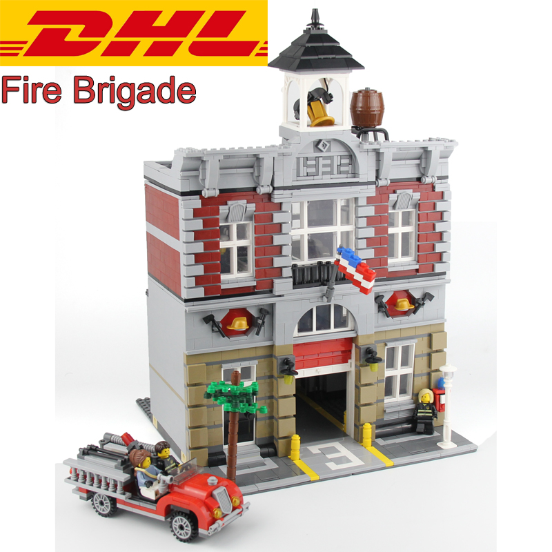 2018 New 2313Pcs City Creator Fire Brigade Model Building Kits Blocks Bricks Compatible Toys Gift 10197 прогулочные коляски espiro sonic air