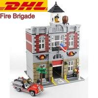 2016 New LEPIN 15004 2313Pcs City Creator Fire Brigade Model Building Kits Minifigures Blocks Bricks Compatible