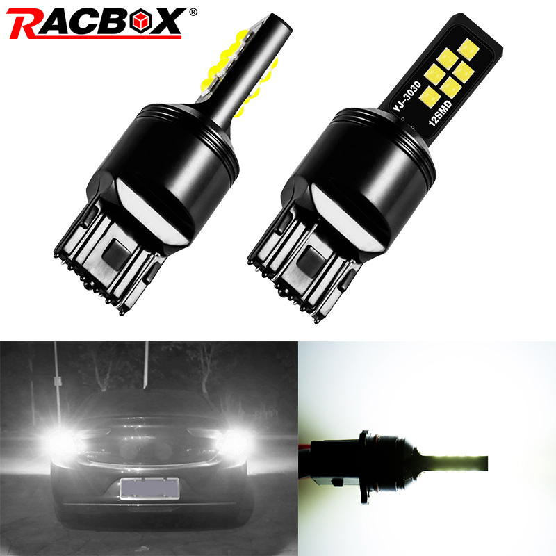 2Pcs New <font><b>T20</b></font> 7440 W21W <font><b>LED</b></font> Car Brake Light 3030 <font><b>LED</b></font> Chips Tail Lamp Auto Turn Signal <font><b>Bulbs</b></font> Daytime Running Lights <font><b>Rear</b></font> Fog <font><b>Bulb</b></font> image