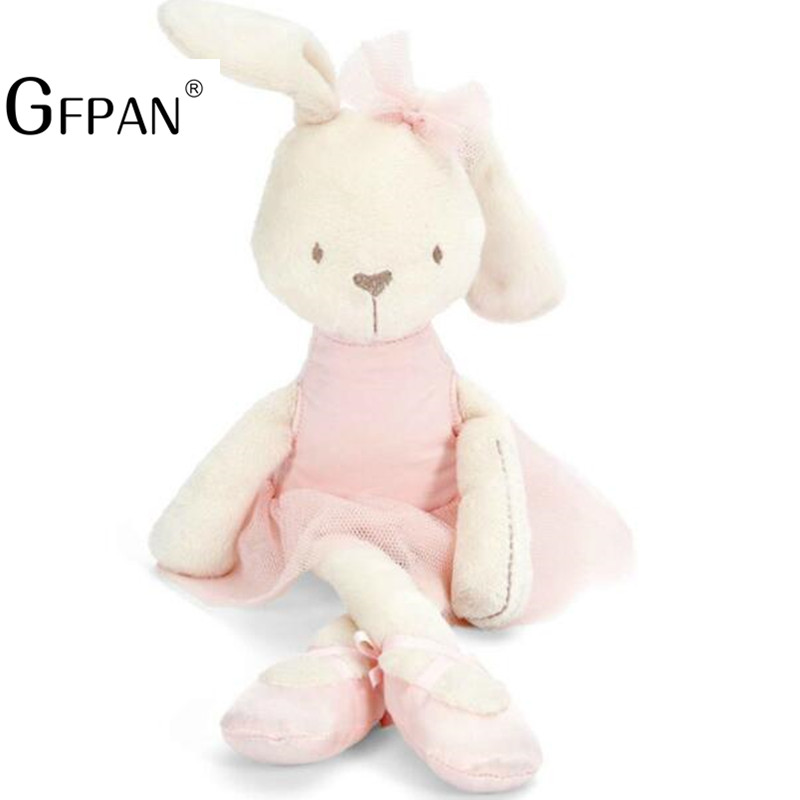 0b732f272bb5 1pcs 42cm Cute Rabbit with Pink Dress Baby Soft Plush Toy Ballet ...