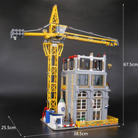 Лепин 15031 натуральная MOC строительные серии строительство с краном набор строительных блоков Кирпичи рождественские подарки legoINGlys 4425 шт.