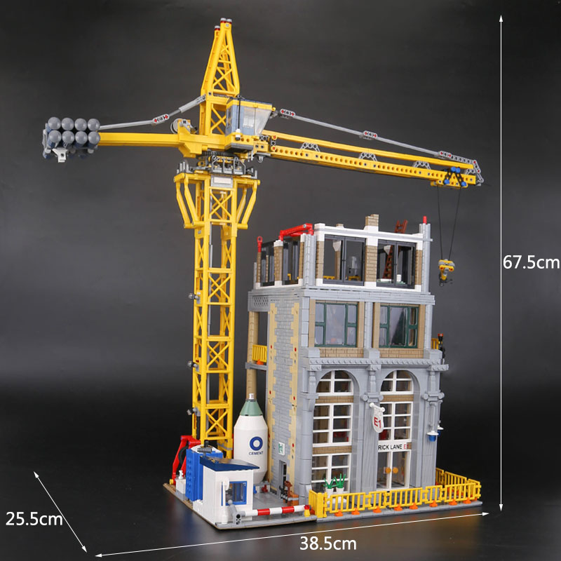 Lepin 15031 Genuine MOC Building Series construction with Crane Set Building Blocks Bricks Christmas Gifts legoINGlys 4425Pcs
