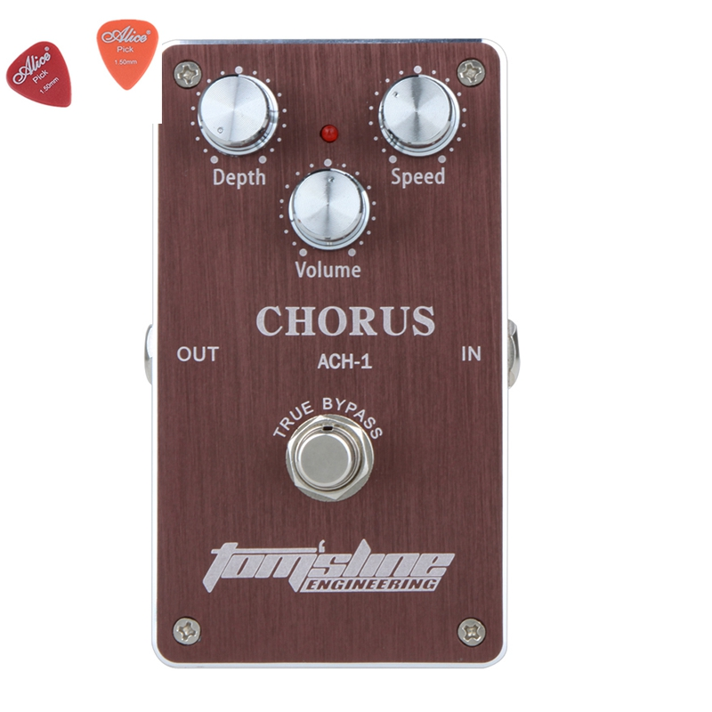 ФОТО ACH-1 Chorus Premium Analogue Effect Guitar Effect DC9V Power Supply Aroma Pedal Effects CE ROHS Free Ship !!!
