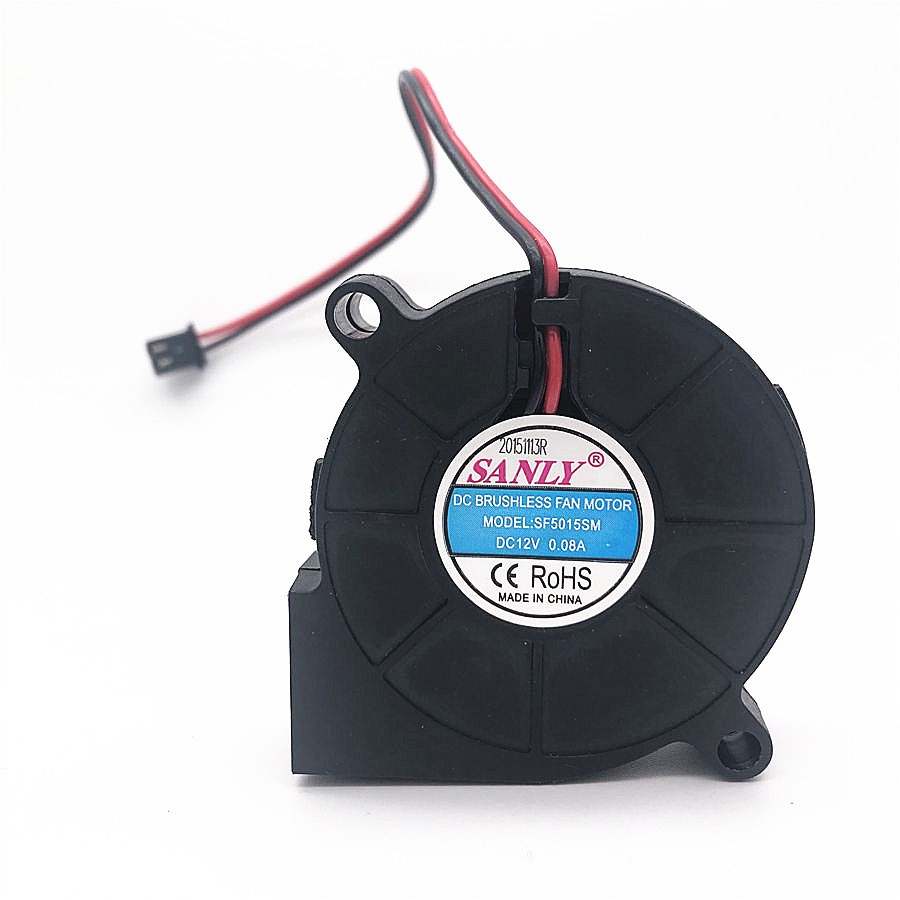 SANLY SF5015SL 12V 24V 0.06A 5cm 5015 50x50x15mm Industrial Blower For Humidifier Server Cooling Fan SF5015SM 2PIN