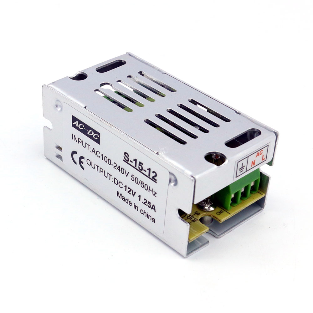 Led Strip Driver Dc 12v 15w Switching Power Supply For 3528 And 5050 24v6a Low Consumption Regulated Circuit Lights In From Home Improvement On Alibaba