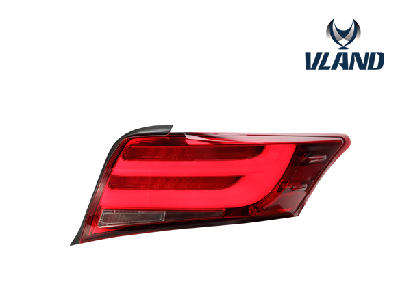 Free shipping vland car styling accessory for Vios Yairs LED taillight 2014 2015 2016 top quality red white smoke black color free shipping china vland car led tail lamp for 2008 2015 mitsubishi lancer a6l style taillight with led moving signal light