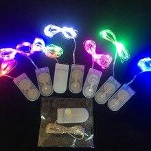 3 м лидер Медный провод Сигнальное освещение для CR2032 кнопочная ячейка Фонари Праздничные фонарики Рождественский декоративный светильник светодиодный Медный провод лампы