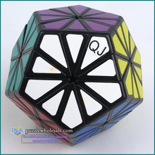 QJ Pyraminx Crystal QJ 12 color Chrysanthemum Dodecahedron Puzzle Magic Cube Challenging Educational Toys As a