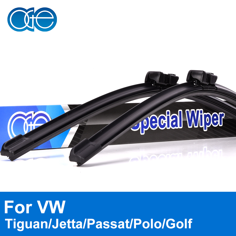 Oge Wiper Blades For VW Jetta Passat Tiguan Golf Polo Touran Caddy 2005-2016 Windscreen Windshield Rubber Car Auto Accessories wiper blades for vw golf 7 fit push button arms 2012 2013 2014 2015 2016 26 18 windscreen windshield silicone rubber car wiper