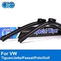 Oge Wiper Blades For VW Jetta Passat Tiguan Golf Polo Touran Caddy 2005-2016 Windscreen Windshield Rubber Car Auto Accessories