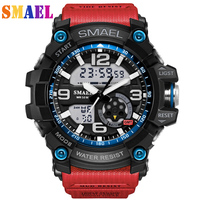 Digital Quartz Wristwatches Men`s Sports Watches Dual Display Analog LED Electronic Waterproof Swimming Military G S Shock Watch