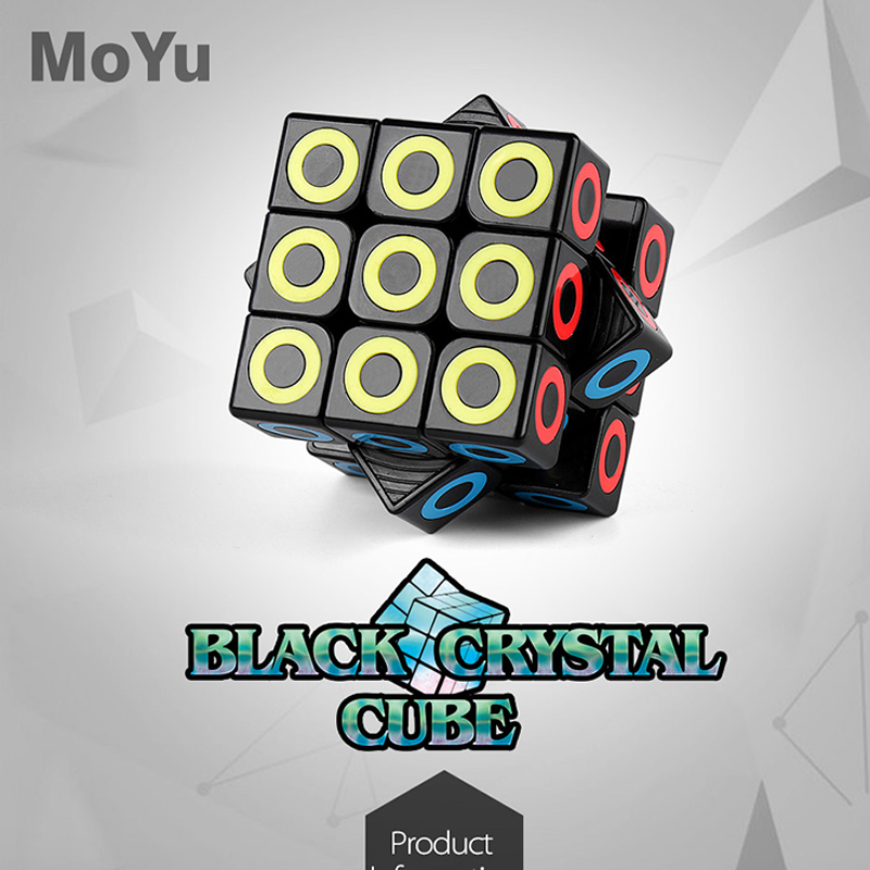 MOYU Black Crystal 3x3x3 Magic Cube Professional Speed Puzzle 3x3 Cube Educational Toys Gifts