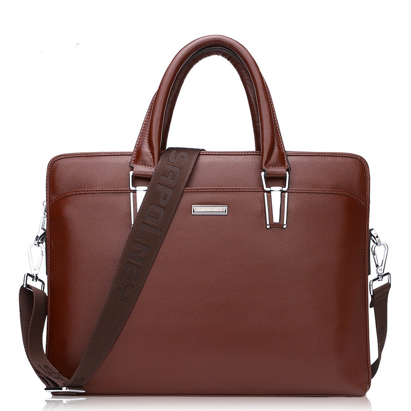 HD103-5  New 2017 men's bags Leather Handbag cross business computer bag Head Layer Cowhide high-capacity Men Briefcases europe and the new spring and summer leather handbag bag simple cross head layer cowhide temperament mini bag tote bag