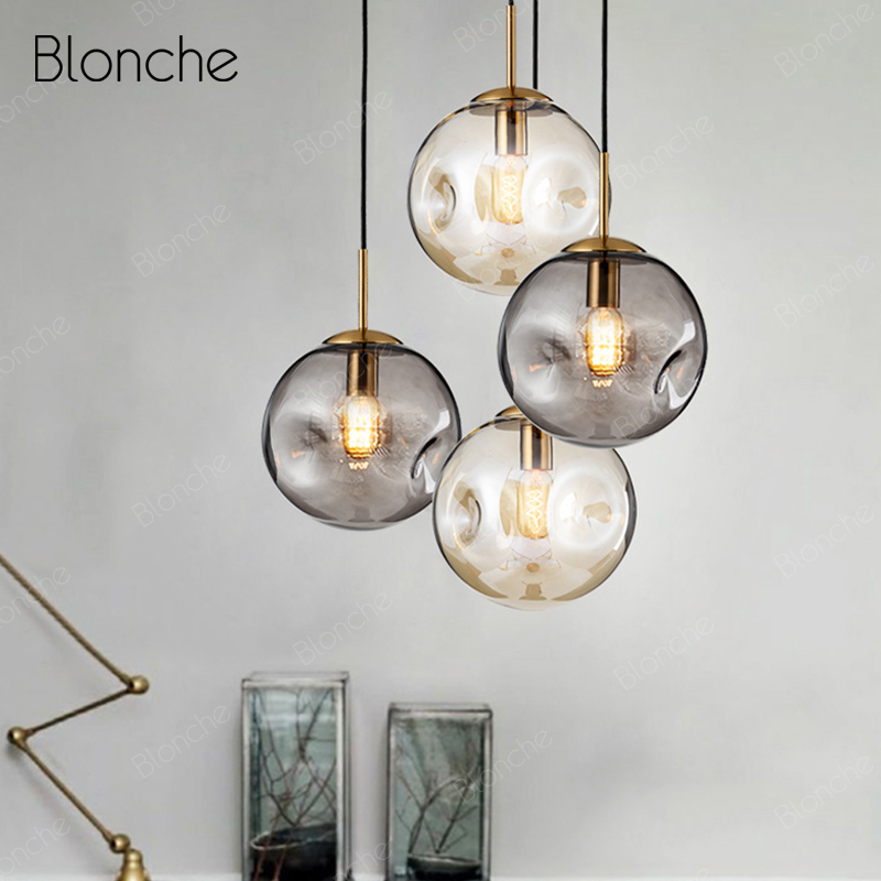 Modren Glass Ball Pendant Lights Nordic Bubbles Hanging Lamp Loft Decor Lighting Fixtures for Dining Room Bar Cafe Luminaire E27Modren Glass Ball Pendant Lights Nordic Bubbles Hanging Lamp Loft Decor Lighting Fixtures for Dining Room Bar Cafe Luminaire E27