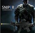 Novo MP5 Submetralhadora Elétrica Arma Arma de brinquedo com laser & Som brinquedos rifle sniper submachinegun infravermelho para meninos