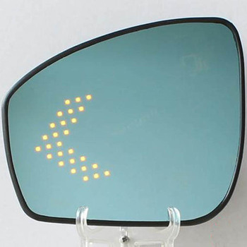 Multi-kelengkungan biru wide angle led panah turn signal panas defog pintu belakang cermin untuk nissan tiida pulsar penggantian bagian
