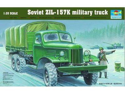 Trumpeter 01003 1/35 ZIL-157K Military Truck Plastic Model Kit