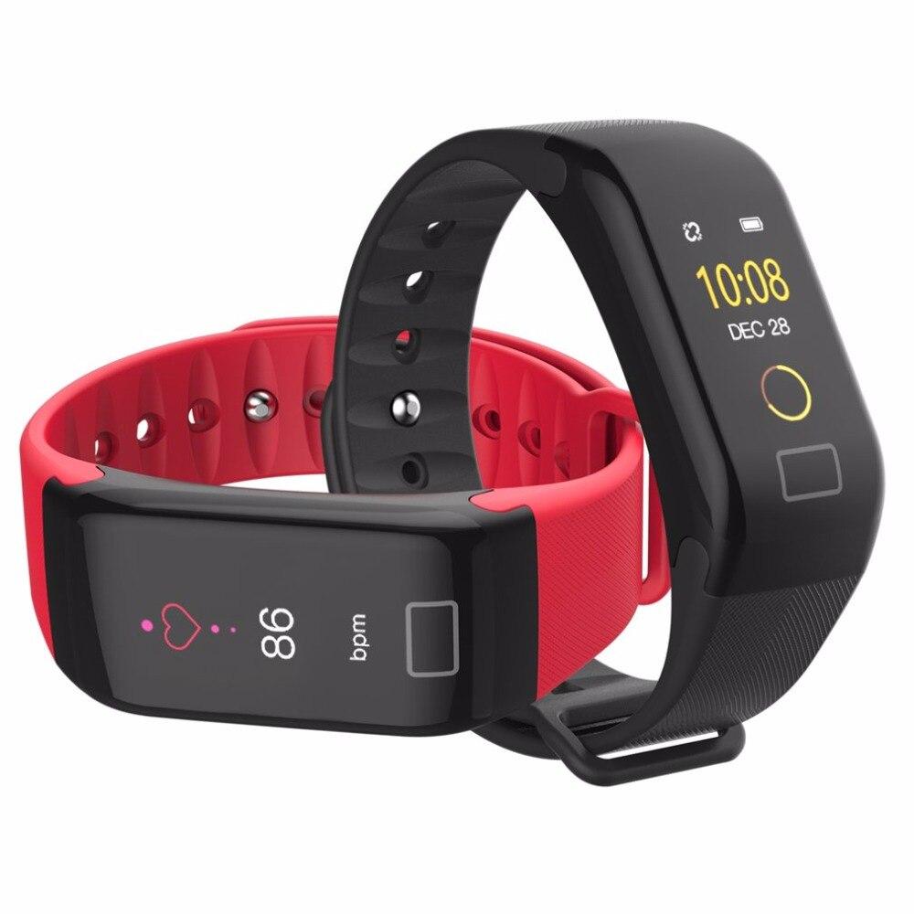 2018 men's watch F1 Waterproof Sports Watch Health Oximetry Blood Pressure Monitor Heart Rate fitness watch renkli kol saati A47