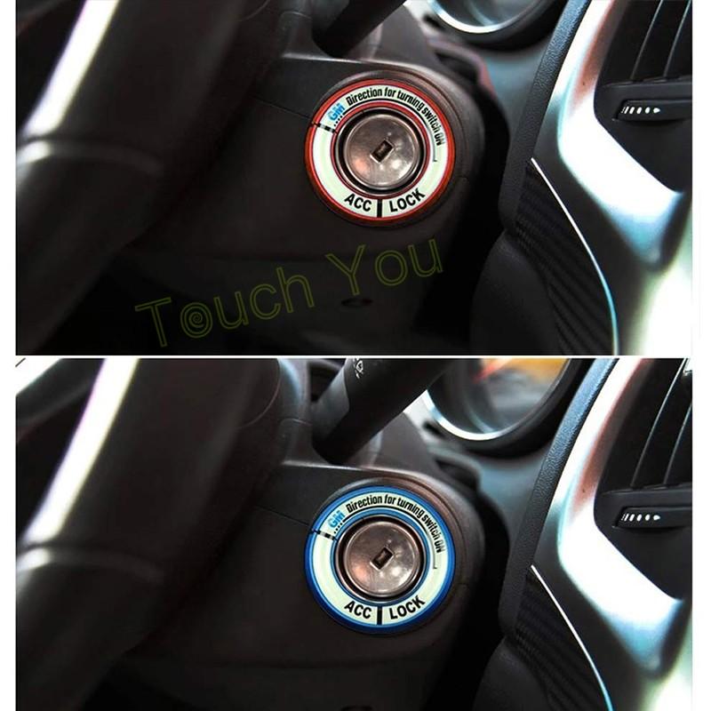 HTB1WDA8KFXXXXaNXVXXq6xXFXXXq - Luminous Alloy Car Ignition Switch Cover Auto Accessories Car Stickers Circle Light Decoration For TOYOTA COROLLA LEVIN Motor