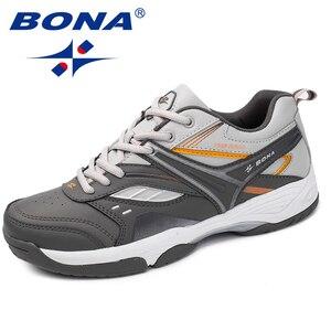 Image 3 - BONA החדש הגעה קלאסיקות סגנון גברים נעליים יומיומיות פיצול עור גברים חיצוני אופנה סניקרס נעליים נוח מהיר משלוח חינם