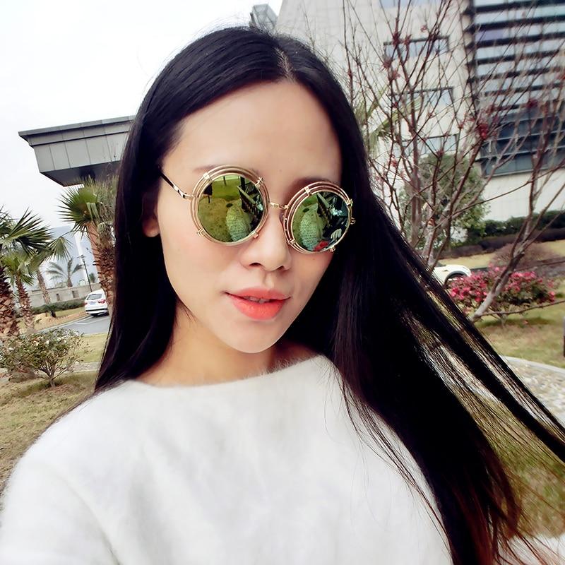 Mirrored Round Sunglasses  aliexpress com new 2016 retro round sunglasses women alloy
