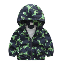Children toddler jacket Cute Dinosaur Spring Autumn Kids Jacket For Boys Outerwear & Coats baby girl Windbreaker Clothing недорого