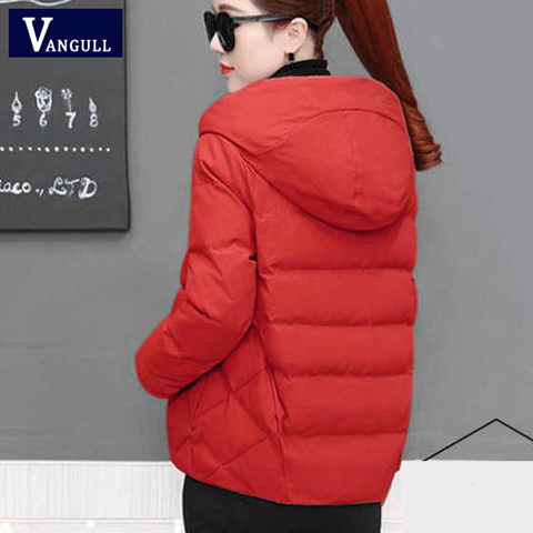 Vangull Winter Women Coat Parkas Solid Hooded Jacket 2019 Casual New Zipper Plus Size Loose Thick Outerwear Long Sleeve coat Islamabad