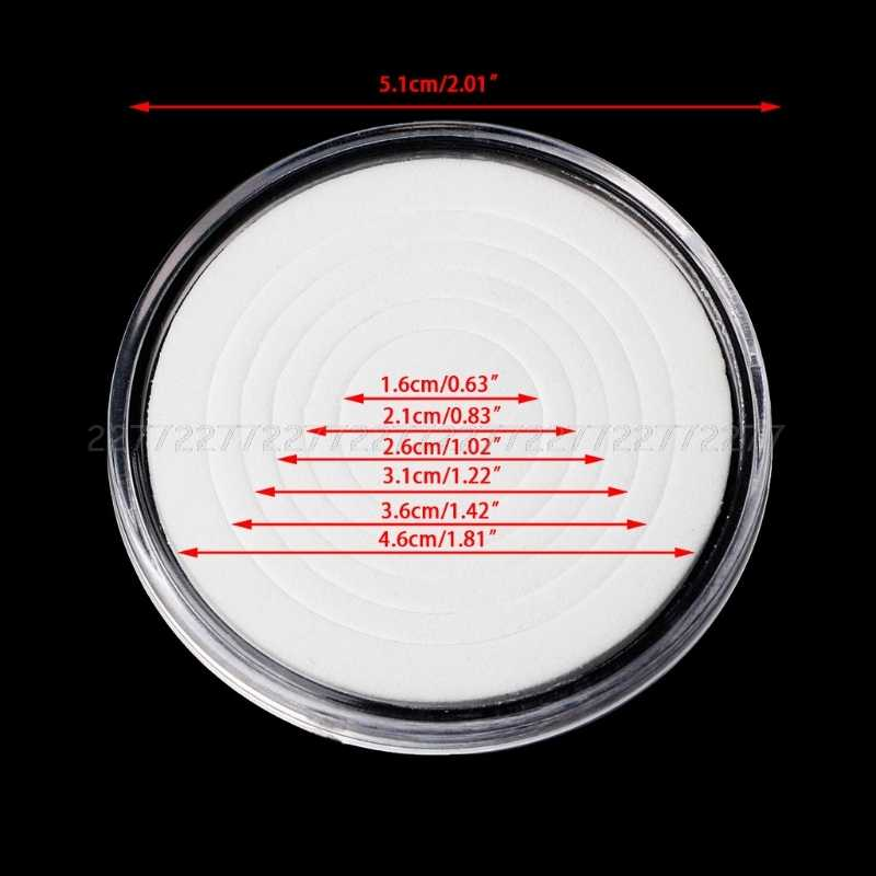 Caja de exhibición de la caja del almacenamiento de la cápsula del sostenedor de la moneda de 46mm con los anillos de la almohadilla de 5 tamaños JUN21 dropship
