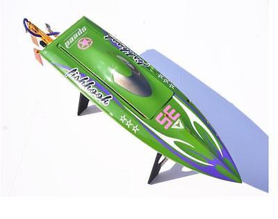 H625 KIT coque de bateau de course RC pré-peinte en Fiber de verre pour joueur avancé vert TH02644