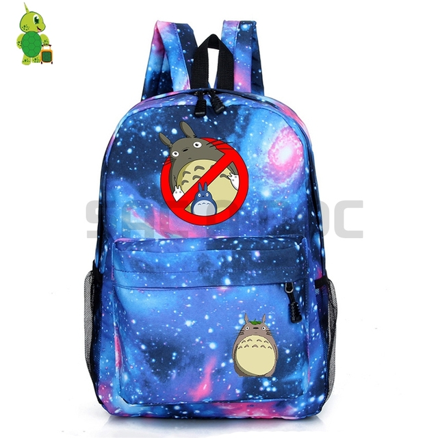 Ghostbusters One Punch Totoro Backpack Galaxy School Bags for Teenage Girls  Boys Students Book Bag c5726bec5a