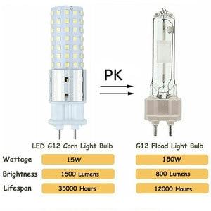 Image 2 - 10 pièces, 15W G12, 96 pièces, Super brillant, SMD 2835 LED, ampoule de remplacement, lampe à ampoule 150W ampoule LED, lampe à maïs, 85 265V