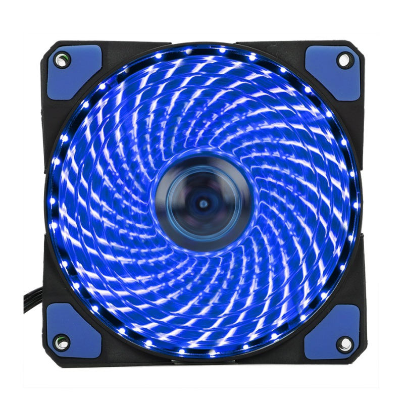 luminous 120mm PC Computer 16dB Ultra Silent 33 LEDs Case Fan Heatsink Cooler Cooling with Anti-Vibration Rubber